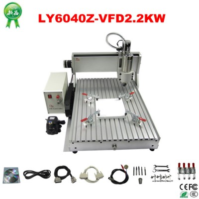 high speed version strong power water cooled CNC 6040 milling machine (2.2 kw spindle 2.2kw VFD) cnc router with limit switch
