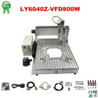 High Precision Desktop LY CNC 6040 800W CNC Milling Wood PCB Machine + 3 axis + Water Channel For Sale