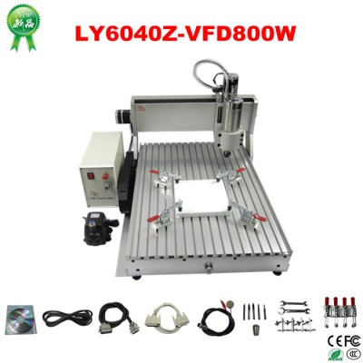 LY 800W 4th axis CNC Router Engraver Engraving Milling Drilling Cutting Machine CNC 6040