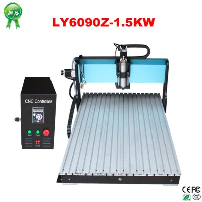 1.5KW CNC 6090 Engraving/Milling Machine with high speed Leadshine stepper drive
