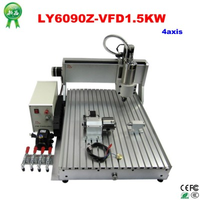 Hot! Hot! Hot! 4axis 3d engraving cnc router 6090