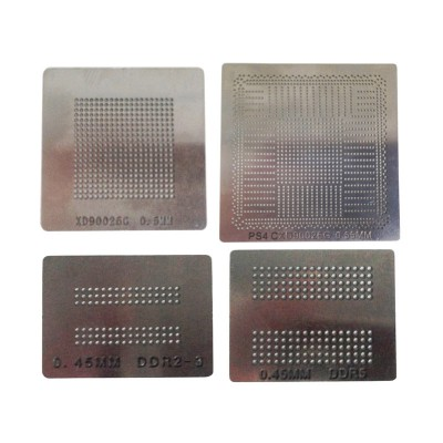 BGA reballing stencils direct heating solder ball steel template for PS4 BGA IC reball station