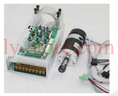 ER11 high speed spindle motor 400W with power supply, speed controller and mount bracket,air cooled spindle motor