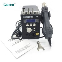 Original QUICK 2008 ESD digital display heat gun Welding blower gun 220V 120L/min 100 to 500 degree