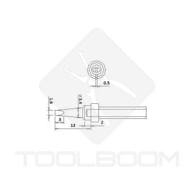 Soldering Iron Tip Quick QSS200-1.6D