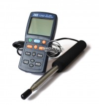 New TES-1340 Digital Anemometer Air Wind Flow Meter Tester,Hot-Wire Anemometer