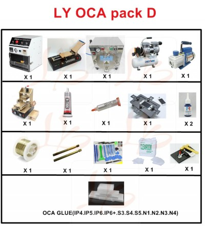 LY universal screen separate pack D OCA pack D OCA solution D for apple & Samsung mobile screen repair