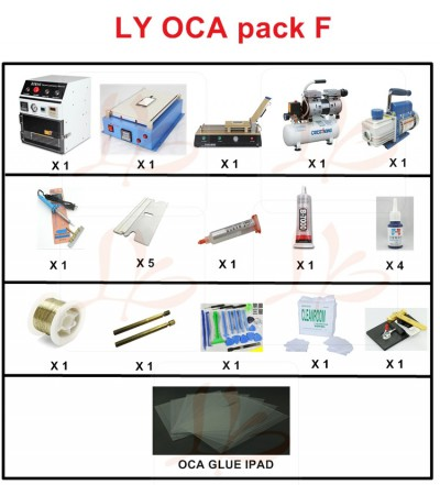 LY PAD screen separate pack F OCA pack F OCA solution F for PAD screen repair specially