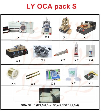 LY 900 screen separate pack S OCA pack S OCA solution S for all mobiles screen repair(T/T,W/U accepted ONLY!)