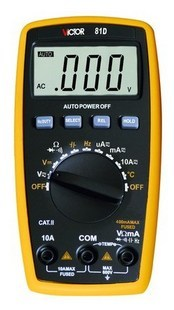 VICTOR 81D Multimeter victor electrician digital Multimeter tester multimeter Capacitance frequency temperature
