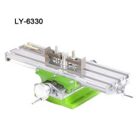 Miniature precision LY-6330 multifunction Milling Machine Bench drill Vise Fixture worktable X Y-axis adjustment Coordinate table
