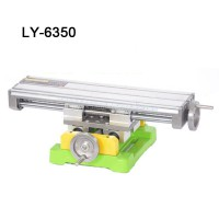 Miniature precision LY-6350 multifunction Milling Machine Bench drill Vise Fixture worktable X Y-axis adjustment Coordinate table