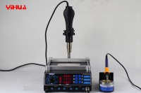 YIHUA 853AAA SMD hot air gun & Solder iron & IR preheating 3 in 1 rework machine