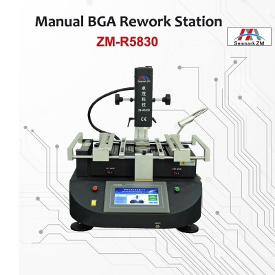 "Original ZM-R5830 Hot air bga rework station 3 zones 14"" CCD camera for optional"