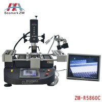 ZhuoMao ZM-R5860C Three Temperature Zones Infrared & Hot air BGA Rework Station with CCD camera and monitor