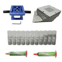 90mm BGA reballing station with Universal Stencil kit solder ball repair tools