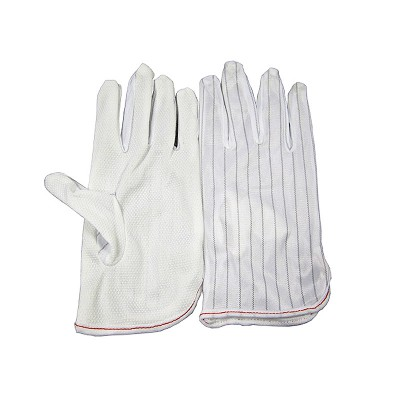 ESD BGA Repairing Soldering Working Antiskid Anti-static Anti-skid White Gloves New Polyester Glove