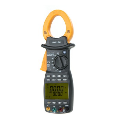MS2203 3-Phase LCD Professional High Sensitivity Clamp Meter Power Factor Correction USB True-RMS 4 Wire Testing