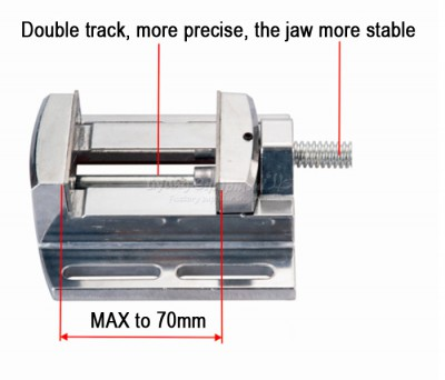 CNC milling machine tool Bench clamp Jaw mini table vice plain vice parallel-jaw vice LY6258