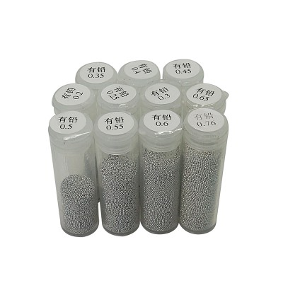 PMTC lead BGA solder ball 25K 0.2mm 0.25mm 0.3mm 0.35mm 0.4mm 0.45mm 0.5mm 0.55mm 0.6mm 0.65mm 0.76mm leaded tin solder balls for BGA reballing